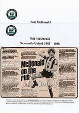 Neil Mcdonald Newcastle United 1983-1988 Original Firmada A Mano Revista De Corte