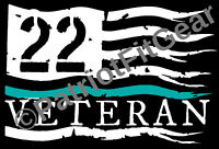 Veteran 22,Flag,Suicide Awareness,PTSD,Support Our Troops,Sticker,Vinyl Decal