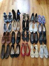 (20 PAIRS) GIRL'S/WOMEN'S SHOE LOT SIZE 6 and 6.5 flats sandals heels tennis