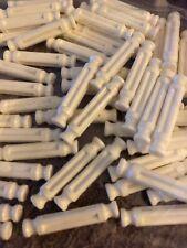 "75 Knex White Rods 1 5/16"" Long Pieces Bulk Standard Replacement Parts Lot"