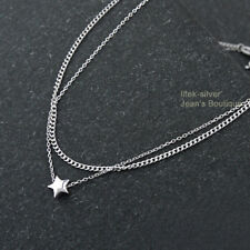 925 Sterling Silver Star Multi Layer Bands Chain Bracelet Anklet A2839