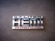 DODGE RAM HEMI 5.7 LITER MAGNUM NAMEPLATE BADGE LOGO OEM MOPAR EMBLEM 03-06