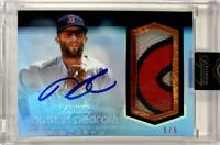 MLB Card 2018 Dustin Pedroia Topps Dynasty Boston Red Sox Auto Patch Blue 5/5