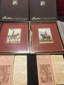 Framed Woven Silk JJ Cash Pictures.Officer of the Royal Horse guards & artillery