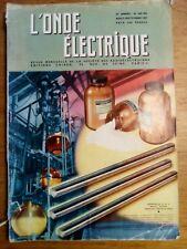 L'onde électrique N°365 -366 - aout septembre 1957