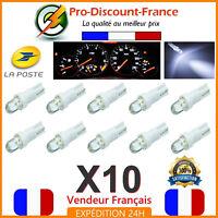 10 x T5 LED Voiture Blanc Ampoule Tableau de Bord Compteur Tuning 12V