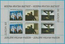 Kroatien aus 1993 ** postfrisch Kleinbogen MiNr.240-242 - Europa: Kunst!