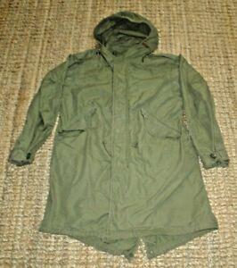 US Army Parka Field Overwhite M-1950 Fishtail Korea Winter Camo Re-enactment  M