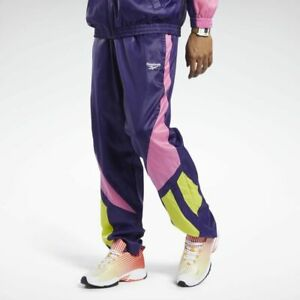 Reebok Classics Twin Vector Track Pants Mystic Orchid Pink Yellow White Retro