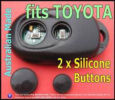 fits TOYOTA Camry Avalon Altise remote- 2 Round Silicone key BUTTONS (1set)