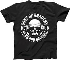 Sons of Anarchy - Logo Black Male T-Shirt NEW * Small Size * Redwood Original