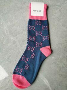 Gucci Socks Blue-Pink Pattern mid calf Size medium