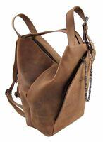 LandLeder City-Bag Biker-Rucksack Rind-Leder Daybag Damen-Schulter-Tasche 1008