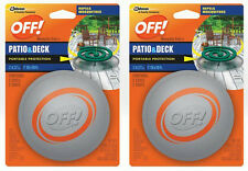 2 Off Patio Deck Mosquito Repellent Outdoor Portable Protection 3 Pot 3Coil 4 Hr