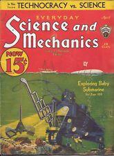 Science & Mechanics magazine  April 1933  Hugo Gernsback  Paul cover submarine