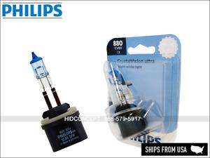 880 Philips Crystal Vision Ultra 4000K 880CVB1 HIR2 Upgrade Bulbs (Pack of 1)