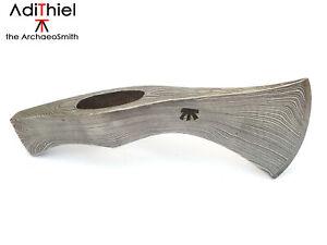 F_02c Hammer Poll TOMAHAWK with Damascus Steel Cutting Edge (hatchet, axe)
