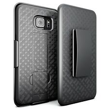 Shell Holster Combo with Kickstand for Samsung Galaxy S6 - Black