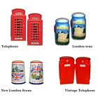 BRITISH LONDON SCENE CRUET SALT AND PEPPER UK SOUVENIR GIFT SET ENGLAND BRITAIN