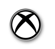 "XBOX SYMBOL / 1"" / 25mm pin button / badge / gaming / 360 / console / logo"