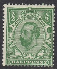 GB : Downey Head 1911 Die 1A 1/2d  bluish- green  SG N1(4)  mint