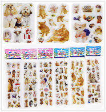 """Stickers lot 3D Foam Classic Cartoon Childrekids Gift """"Dogs and cats"""" kids gifts"""