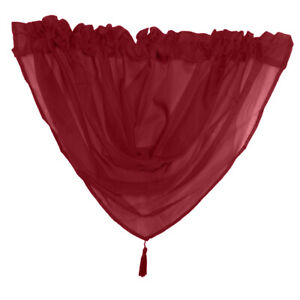 Voile Curtain Swag Ready Made Curtain Tassel Swags Valance Scarf
