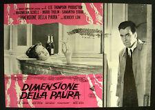 CINEMA-fotobusta  DIMENSIONE DELLA PAURA schell, thulin, J. LEE THOMPSON
