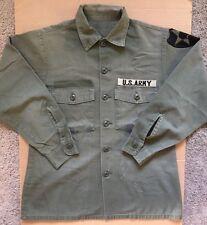 Vintage Original U.S. Army Military 'OG 507' Long Sleeve Shirt Jacket Surplus