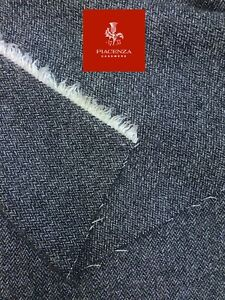 CASHMERE & WOOL SUITING FABRIC by PIACENZA, Made in Italy GREY HERRINGBONE 1.75m