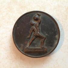 Vtg Medart Bronze Paperweight Greek Titan Atlas Earth St Louis Defibaugh Chicago