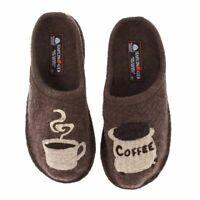 Haflinger Women's Coffee Earth Slippers - NEW - Size EU 40 / US Men 7 - Women 9