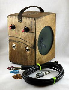 Cigar Box Guitar Amp Amplifier - Distortion Pedal Built in - Great for guitar