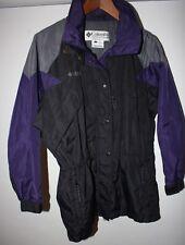 Womens Columbia Ski Longer Style Purple Black Coat Jacket Size Small Outer Shell