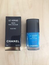 New Limited Edition Chanel Vernis ELECTRIC Neon Blue Nail Polish