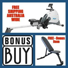MY ROWER MR-1 Magnetic Rowing Machine  + FREE FID Flat Incline Bench-Value $149