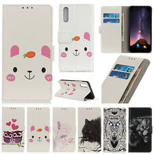 For Sony ACE XZ5 OPPO Realme 3 Flip Leather Wallet Stand Card Holder Case Cover