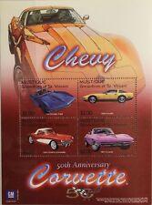 ST VINCENT GRENADINES MUSTIQUE 2003 Klb 27-30 Block 4 Chevrolet Corvette Autos