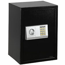 New Digital Electric Safe Box Keypad Lock Home Security Jewelry Gun Cash Black