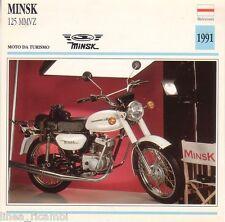 Motorcycle Tab Laminated Minsk 125 MMVZ-Motorcycle Touring - 1991