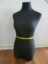 Black Female Mannequin Dress Form New Size Med 6-8 Table Top No Cap or Tripod
