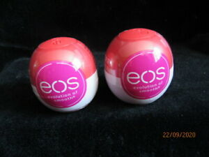NEW EOS EVOLUTION OF SMOOTH LIP BALM 7G - CHERRY AND VANILLA X 2 - SEALED