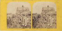 Chiesa st.Eustache Parigi Istantanea Foto Stereo Vintage Albumina Ca 1865