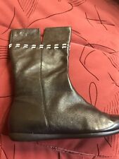2dd729137ba68 Lacoste Womans Size 7 Leather Boot. Flat. Black. Mid Calf.