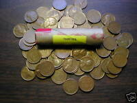 """LINCOLN WHEAT CENT ROLL 1930-39 mixed dates of """"P"""" mints"""