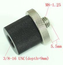 Metal Adapter unit M8-1.25 male to 3/8-16 female for tripod head camera monpod