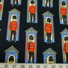 Fat Quarter Guards On Century London Black Cotton Quilting Fabric  Nutex