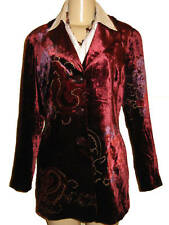 $99 Woman's Winter Coldwater creek Velvet duster long cocktail jacket P14 PL new