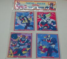 UFO ROBOT GRENDIZER ANIME SET 4 METAL CARD w/PUZZLE PACK COLLECTIBLE ARGENTINA
