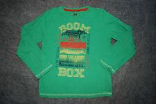 TOM TAILOR   T-Shirt  Langarmshirt Shirt GRÜN   m. Print   128 134 BOOM-BOX